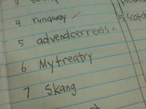 spellingtest